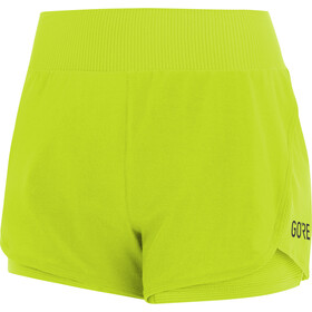 GORE WEAR R7 Short 2 en 1 Femme, citrus green
